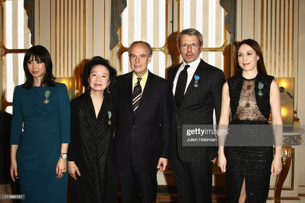 Celebrities Receive Honors At French Ministry Of Culture - April 5, 2011