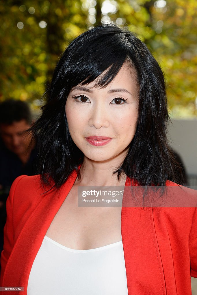 Linh-Dan Pham attends the Elie Saab show as part of the Paris Fashion Week Womenswear Spring/Summer 2014 at Espace Ephemere Tuileries on September 30, 2013 in Paris, France.
