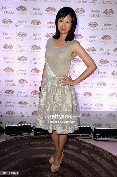 LinhDan Pham attends the 'J'Aime La Mode' Cocktail Event Hosted by Chef Thierry Marx at Hotel Mandarin Oriental on September 23 2013 in Paris France