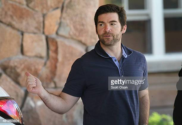 LinkedIn CEO Jeff Weiner arrives for the Allen Company Sun Valley Conference on July 8 2014 in Sun Valley Idaho Many of the worlds wealthiest and...