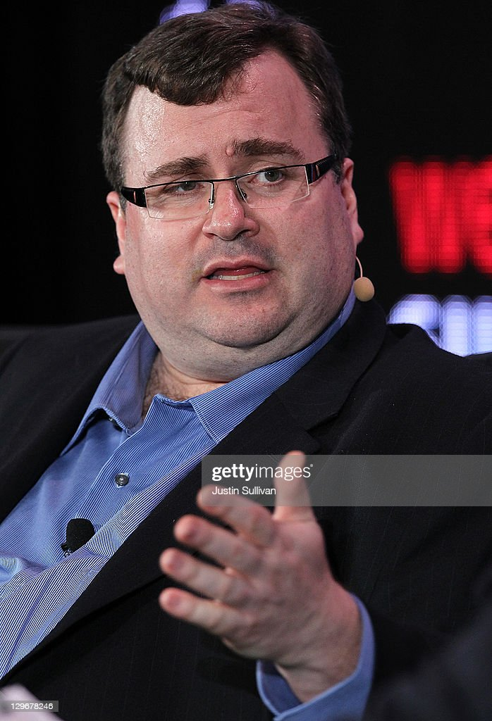 LinkedIn co-founder and executive chairman Reid Hoffman speaks during the 2011 Web 2.0 Summit on October 19, 2011 in San Francisco, California. The 2011 Web 2.0 Summit features keynote addresses by Internet and Technology leaders ends today.