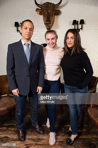 LinkedIn Executive Editor Dan Roth sits down with Lena Dunham and Jenni Konner on December 12 2015 in Los Angeles California