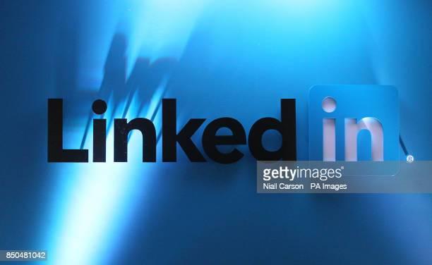 LinkedIn Logos in LinkedIn's offices in Gardner House Wilton Place