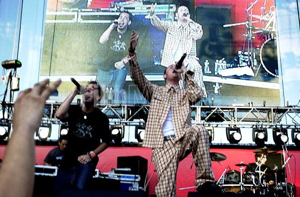 Linkin Park during 2001 KROQ...