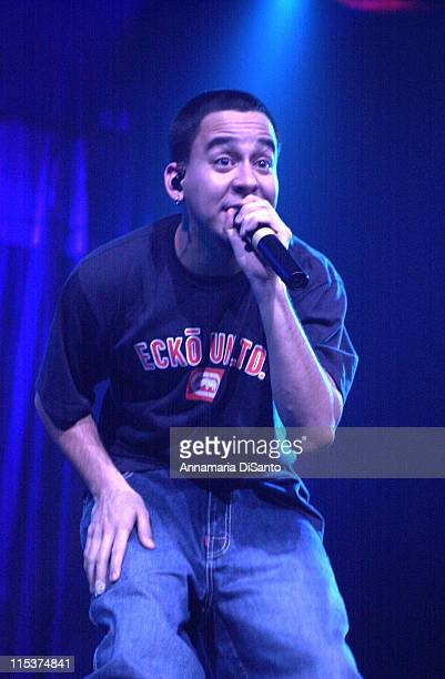 Linkin Park during Family Values Tour 2001 at Arrowhead Pond in Anaheim California United States