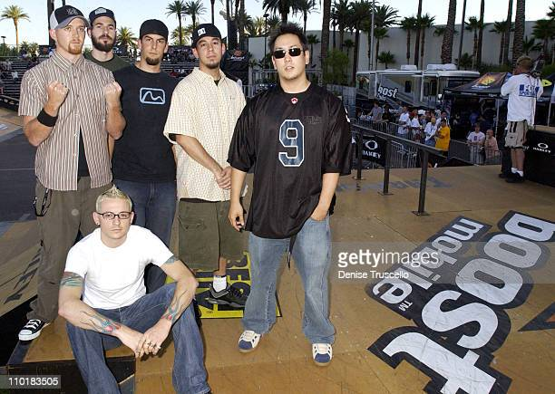 Linkin Park during Linkin Park At Boost Mobile Pro Skateboarding The Richest Skateboarding Contest Ever Presented By Oakley at The Hard Rock Hotel in...