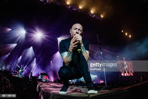 Linkin Park perform at Autodromo Nazionale di Monza during the Independent Days Festival 2017 in Monza Italy on June 17 2017