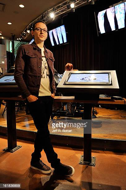 Linkin Park singer Chester Bennington appears during an autograph session at Club Tattoo inside the Miracle Mile Shops at Planet Hollywood Resort...