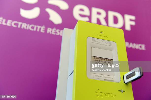 'Linky le nouveau compteur électrique communicant pour les foyers' Photo prise le 18 mars 2009 à Tours du nouveau compteur électronique 'communicant'...