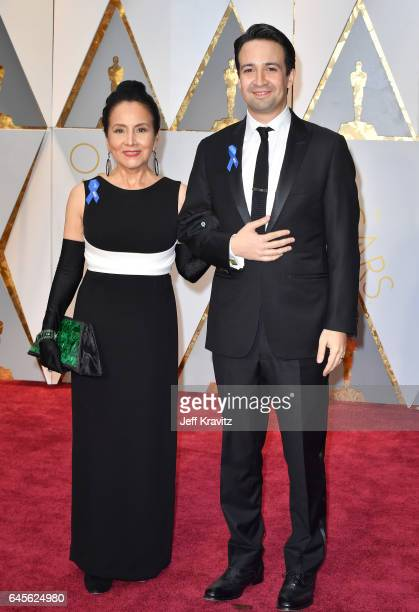 LinManuel Miranda and Luz TownsMiranda attend the 89th Annual Academy Awards at Hollywood Highland Center on February 26 2017 in Hollywood California