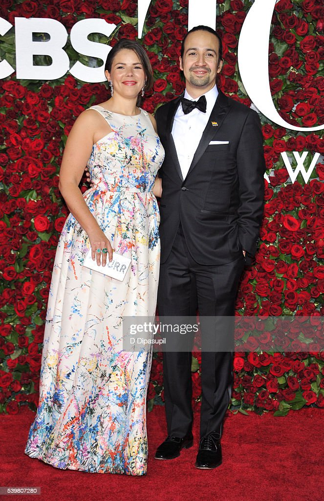 Lin-Manuel Miranda (R) and Vanessa Nadal attend the 70th Annual Tony Awards at the Beacon Theatre on June 12, 2016 in New York City.