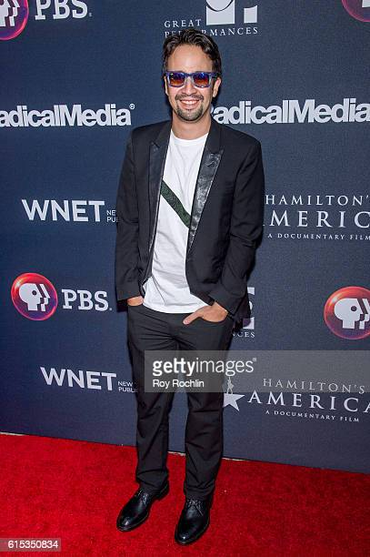 LinManuel Miranda attends 'Great Performances Hamilton's America' at United Palace Theater on October 17 2016 in New York City