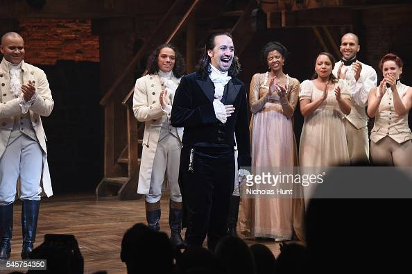 LinManuel Miranda attends his final performance of 'Hamilton' on Broadway at Richard Rodgers Theatre on July 9 2016 in New York City
