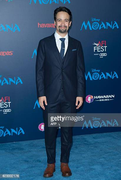 LinManuel Miranda attends the Disney Premiere 'Moana' in Hollywood California on November 14 2016 / AFP / LILLY LAWRENCE