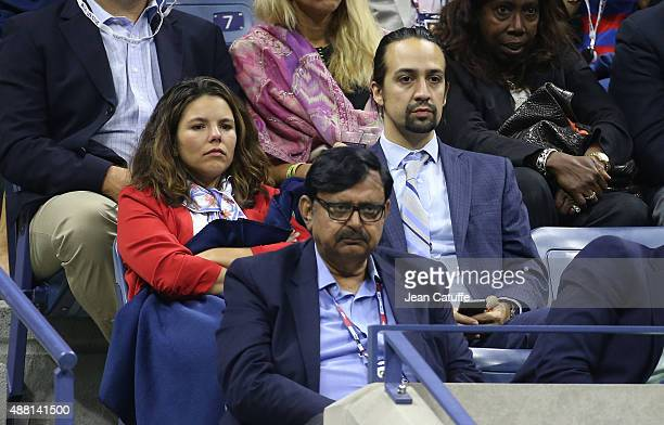 LinManuel Miranda attends the Men's Final on day fourteen of the 2015 US Open at USTA Billie Jean King National Tennis Center on September 13 2015 in...