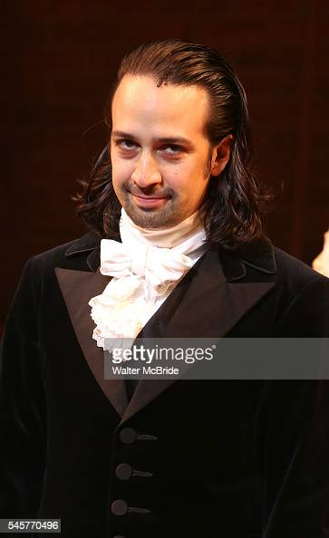 LinManuel Miranda during his final performance of 'Hamilton' on Broadway at Richard Rodgers Theatre on July 9 2016 in New York City