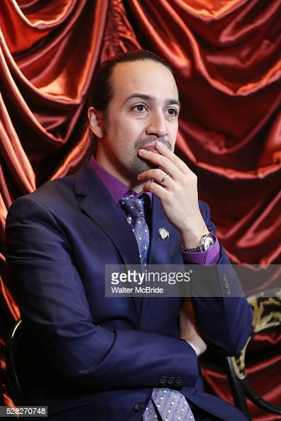 LinManuel Miranda during the 2016 Tony Awards Meet The Nominees Press Reception at the Paramount Hotel on May 4 2016 in New York City