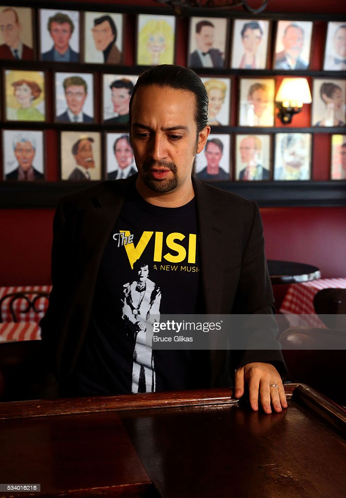 Lin-Manuel Miranda is honored for his work in 'Hamilton' with a Sardi's Caricature at Sardi's on May 24, 2016 in New York City.