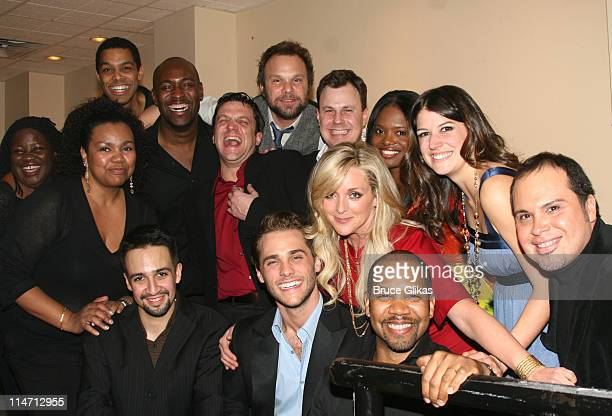 LinManuel Miranda Norbert Leo Butz Raul Esparza Brooks Ashmanskas LaChanze Nicole Parker Jane Krakowski and Josh Strickland with Darius de Haas and...