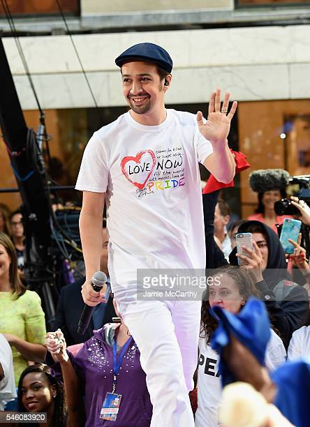 LinManuel Miranda performs on NBC's 'Today' at Rockefeller Plaza on July 11 2016 in New York City