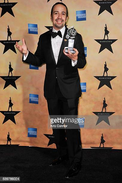 LinManuel Miranda poses for photographers during the 'Hamilton' Tony Awards After Party at Tavern On The Green on June 12 2016 in New York City