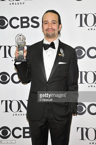 LinManuel Miranda poses in the press room with his award at the 70th Annual Tony Awards at the Beacon Theatre on June 12 2016 in New York City