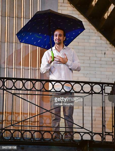 LinManuel Miranda says goodbye to fans after his final performance of 'Hamilton' on Broadway at Richard Rodgers Theatre on July 9 2016 in New York...