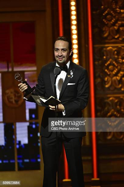 LinManuel Miranda winner Best Book of a Musical for Hamilton at THE 70TH ANNUAL TONY AWARDS live from the Beacon Theatre in New York City Sunday June...