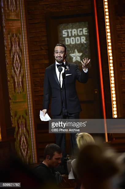 LinManuel Miranda winner of Best Original Score Written for the Theater for Hamilton at THE 70TH ANNUAL TONY AWARDS live from the Beacon Theatre in...