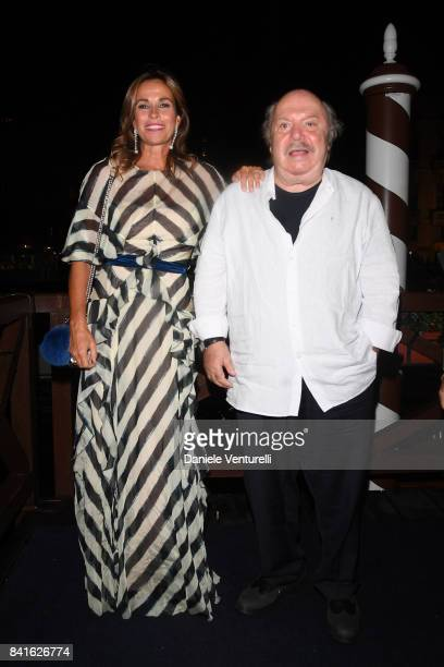 Lino Banfi and Cristina Parodi attend Diva e Donna Party at Centurion Palace during the 74th Venice Film Festival on September 1 2017 in Venice Italy