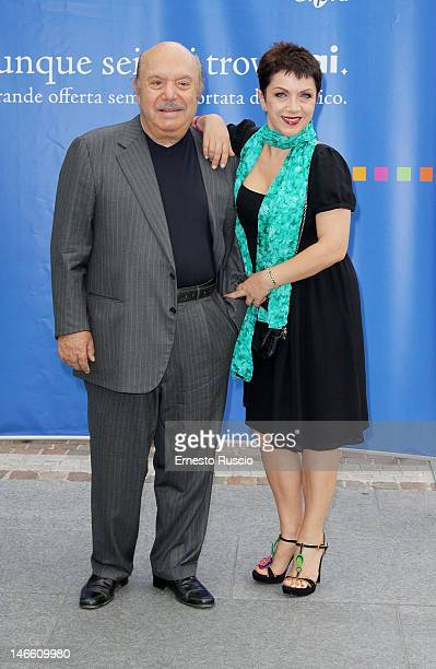 Lino Banfi and Rosanna Banfi attend the Palinsesti Rai photocall at Cavalieri Hilton Hotel on June 20 2012 in Rome Italy