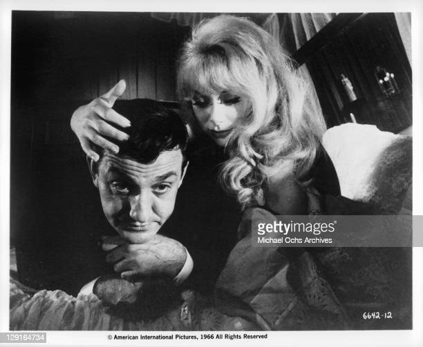 Lino Ventura And Mireille Darc in a scene from the film 'The Great Spy Chase' 1966