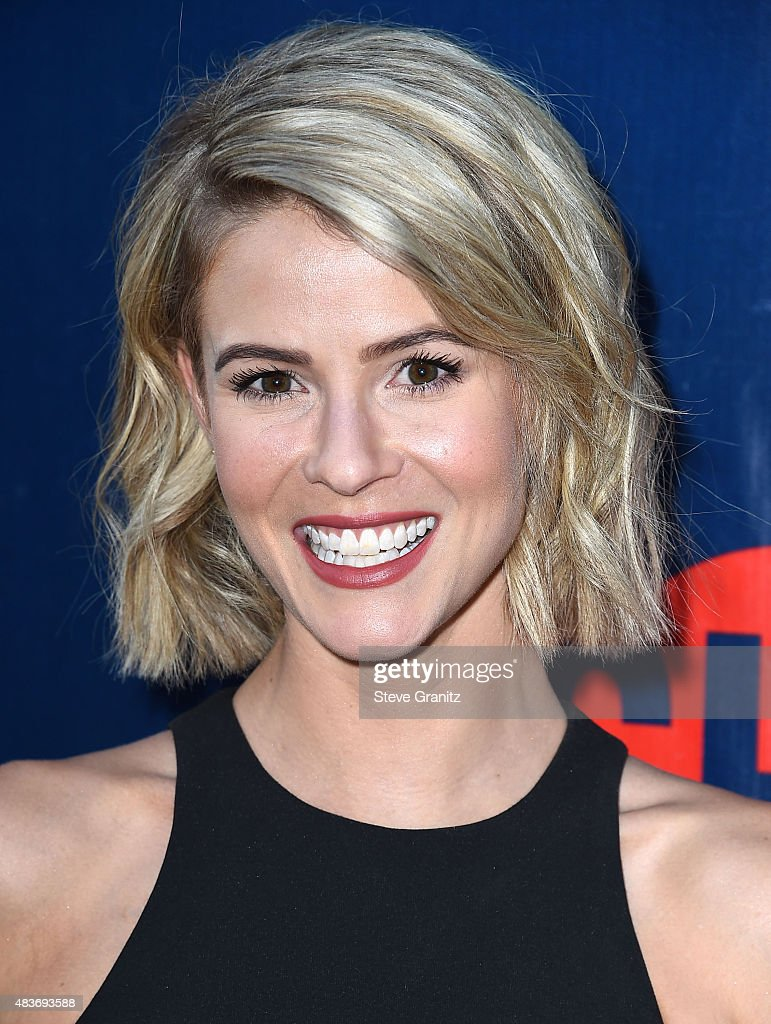 <a gi-track='captionPersonalityLinkClicked' href=/galleries/search?phrase=Linsey+Godfrey&family=editorial&specificpeople=7905776 ng-click='$event.stopPropagation()'>Linsey Godfrey</a> arrives at the CBS, CW And Showtime 2015 Summer TCA Party at Pacific Design Center on August 10, 2015 in West Hollywood, California.