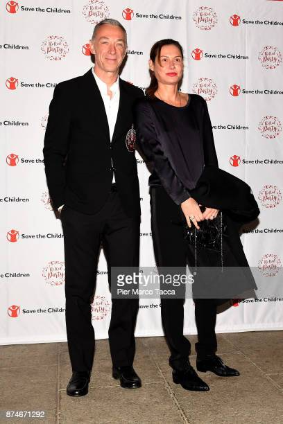 Linus and Carlotta Di Molfetta attend Save The Children Charity Party on November 15 2017 in Milan Italy