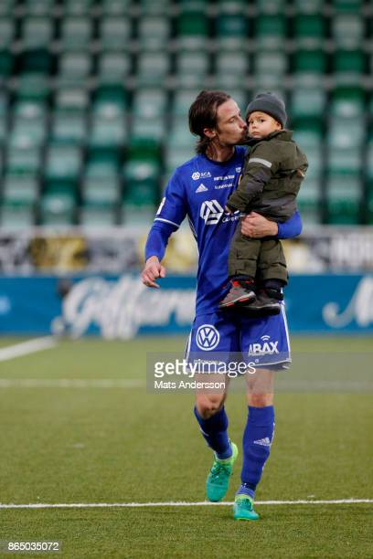 Linus Hallenius of GIF Sundsvall during the Allsvenskan match between GIF Sundsvall and IFK Norrkoping at Idrottsparken on October 22 2017 in...