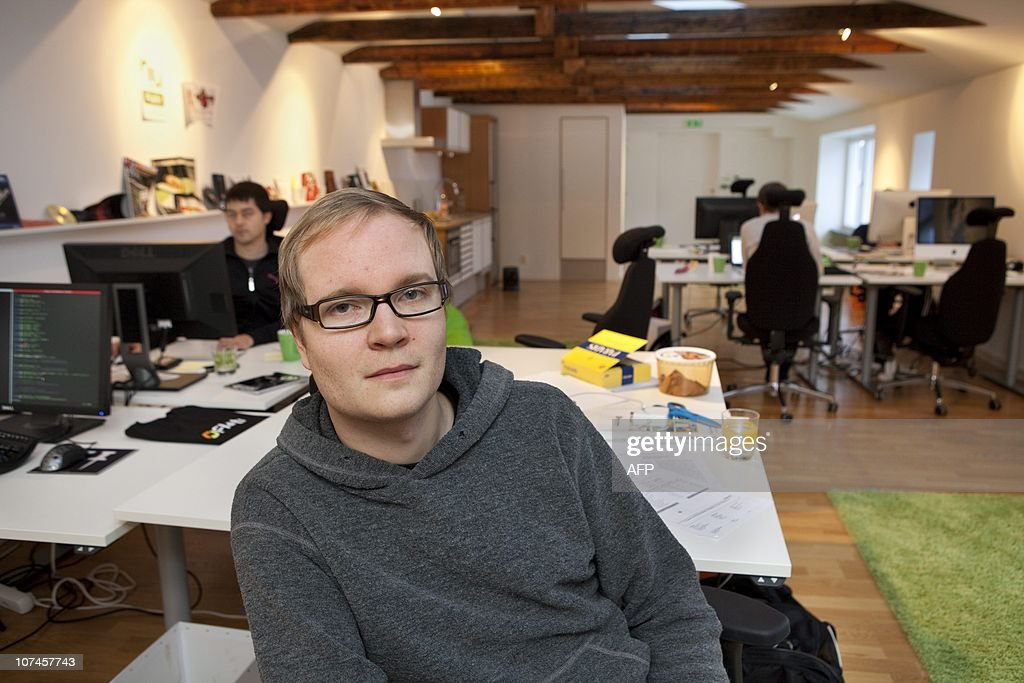 Linus Olsson, chairman of the Swedish micropayment platform company Flattr, poses at the company's office in Malmö, Sweden. Flattr is the only company still transfers donation money to Wikileaks since companies like Mastercard, Visa and Paypal no longer transfer money to Wikileaks.