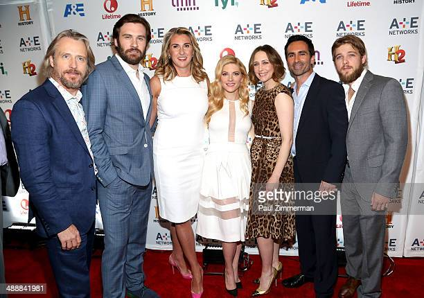 Linus Roache Clive Standen Nancy Dubuc Katheryn Winnick Vera Farmiga Nestor Carbonell and Max Thieriot attend the 2014 AE Networks Upfront on May 8...