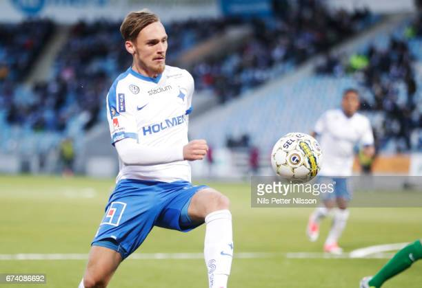 Linus Wahlqvist of IFK Norrkoping during the Allsvenskan match between IFK Norrkoping and Jonkopings Sodra IF at Ostgotaporten on April 27 2017 in...