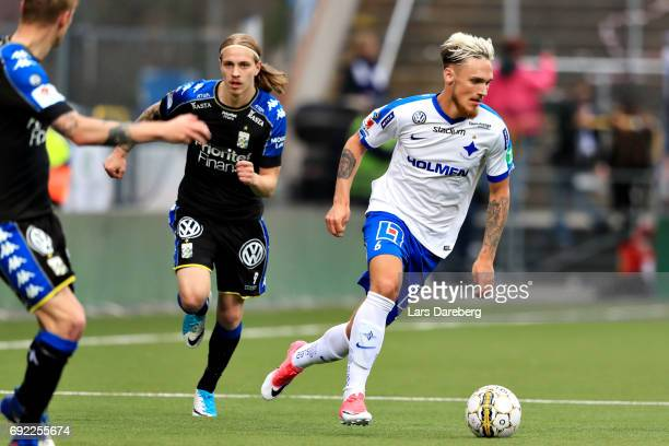 Linus Wahlqvist of IFK Norrkoping during the Allsvenskan match between IFK Norrkoping and IFK Goteborg on June 4 2017 at Ostgotaporten in Norrkoping...