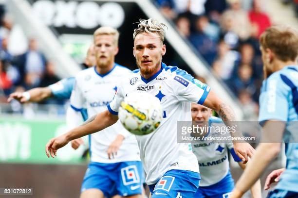 Linus Wahlqvist of IFK Norrkoping during the Allsvenskan match between IFK Norrkoping and Djurgardens IF on August 13 2017 in Norrkoping Sweden
