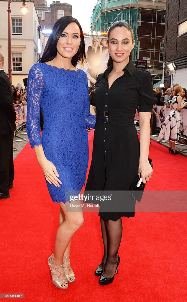 Linzi Stoppard (L) and Asli Bayram attend the UK Gala Premiere of 'The Other Woman' at The Curzon Mayfair on April 2, 2014 in London, England.