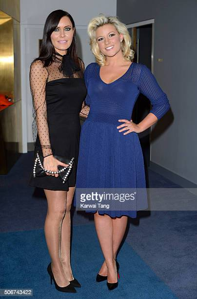 Linzi Stoppard and Natalie Coyle attend the 'Eating Happiness' VIP screening at the Mondrian Hotel on January 25 2016 in London England