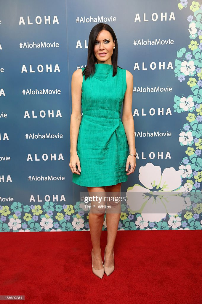 Linzi Stoppard attends a VIP screening of 'Aloha' at Soho Hotel on May 16, 2015 in London, England.