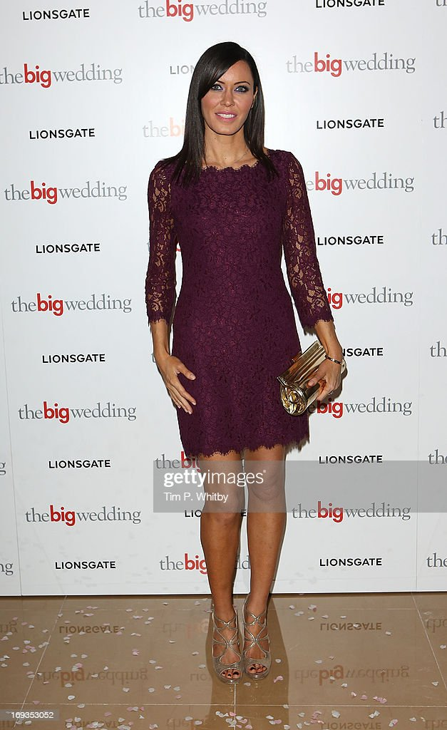 Linzi Stoppard attends Special screening of 'The Big Wedding' at May Fair Hotel on May 23, 2013 in London, England.