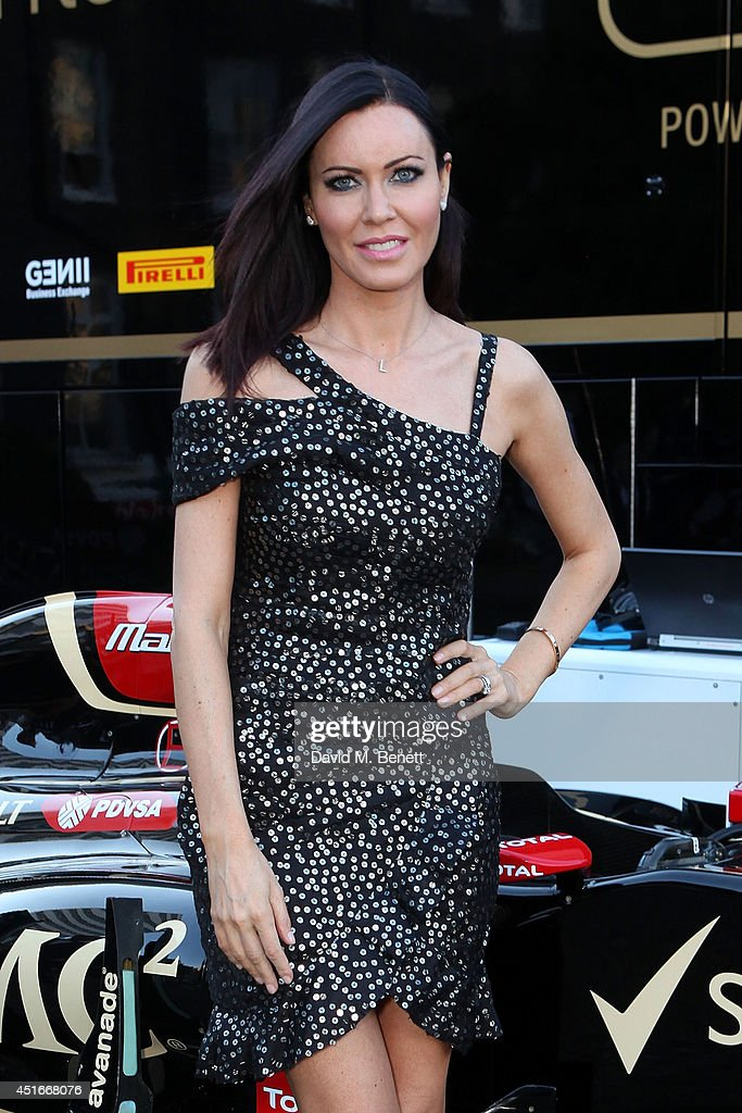 Linzi Stoppard attends The Grand Prix Ball at the Royal Artillery Gardens on July 3, 2014 in London, England.
