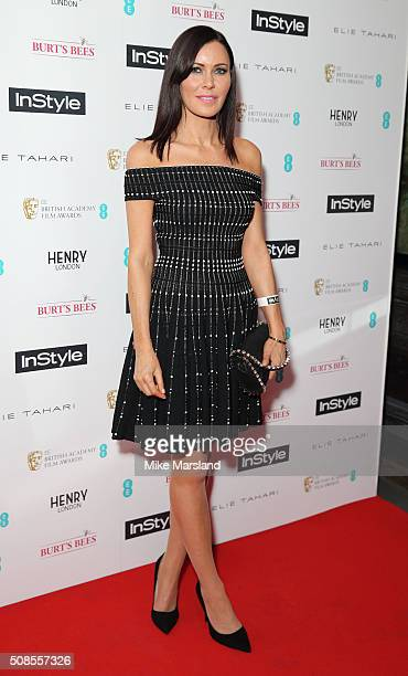Linzi Stoppard attends the InStyle EE Rising Star PreBAFTA Party at 100 Wardour Street on February 4 2016 in London England