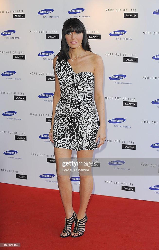 Linzi Stoppard attends the Samsung Galaxy S launch on June 15, 2010 in London, England.