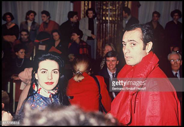 Lio and her husband at the Christian Lacroix fashion show Spring Summer 1989 collection