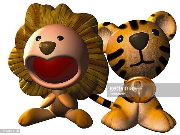 3D, lion, cartoon, cute, animal