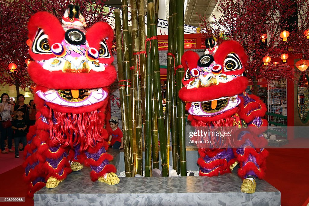 Lion Dance performances at a shopping mall during the 1st day of the Lunar New Year of the monkey celebrations on February 8, 2016 in Kuala Lumpur, Malaysia. Chinese New Year is being celebrated around the world, marking the beginning of the year of the Monkey. The New Year, also known as the Spring Festival, is celebrated from the first day of the first month of the Chinese lunar calendar and ends with the traditional Lantern Festival on the Fifteenth day.